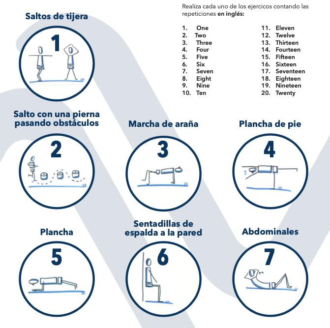 ¡Aprende 7 ejercicios para hacer en casa!